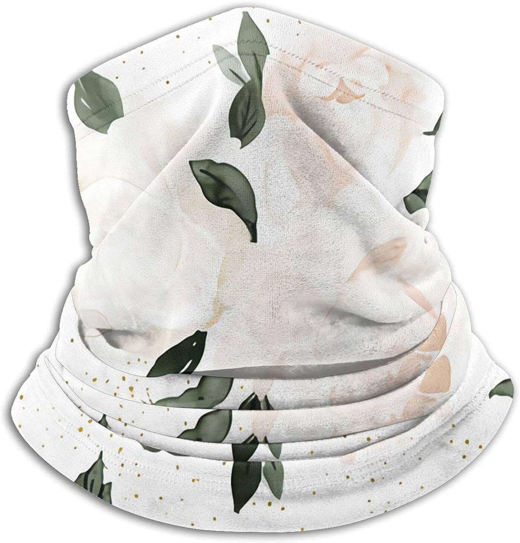 Vintage Blush Floral White Bandanas Neck Gaiter Face Mask Scarf Face Shield