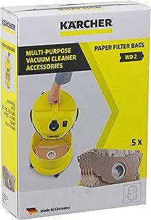 Karcher MV2?WD2?aspiradora fuerte doble capa bolsas de polvo (Pack de 5)