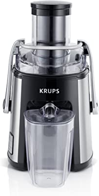 KRUPS ZY501D50 Stainless Steel Juice Extractor with Variable Speed Settings, Black
