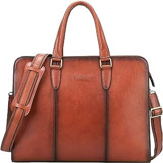 Banuce Vintage Full Grains Italian Leather Briefcase for Women Handbags 14 Inch Laptop Business Bags Tote Attache Case Ladies Satchel Purses Shoulder Messenger Bag