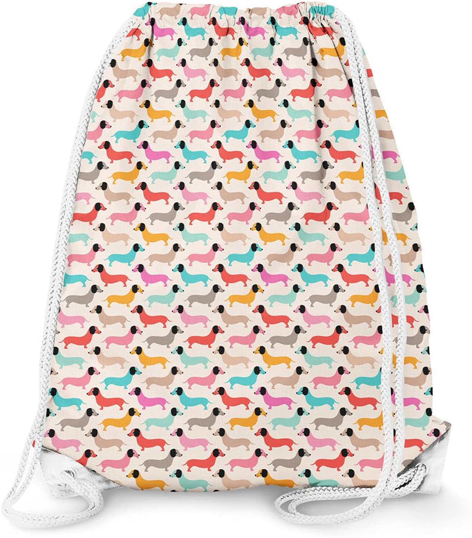 Doxie Dachshund Dogs Drawstring Bag - Large (13.3 x 17.3)