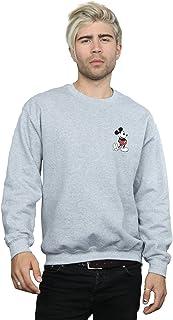 Disney Men's Mickey Mouse Kickin Retro Chest Sweatshirt