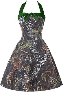 Women's Short Halter Camouflage Homecoming Cocktail Dress Evening Ball Gown CK14