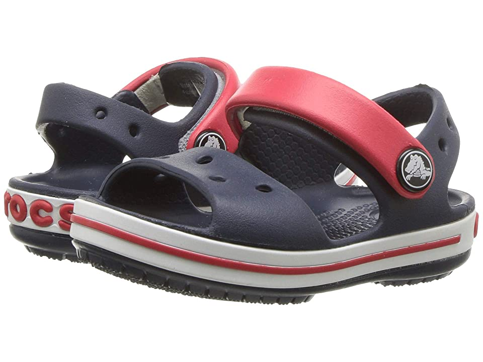 Crocs Kids Crocband Sandal (Toddler/Little Kid) (Navy/Red) Kids Shoes