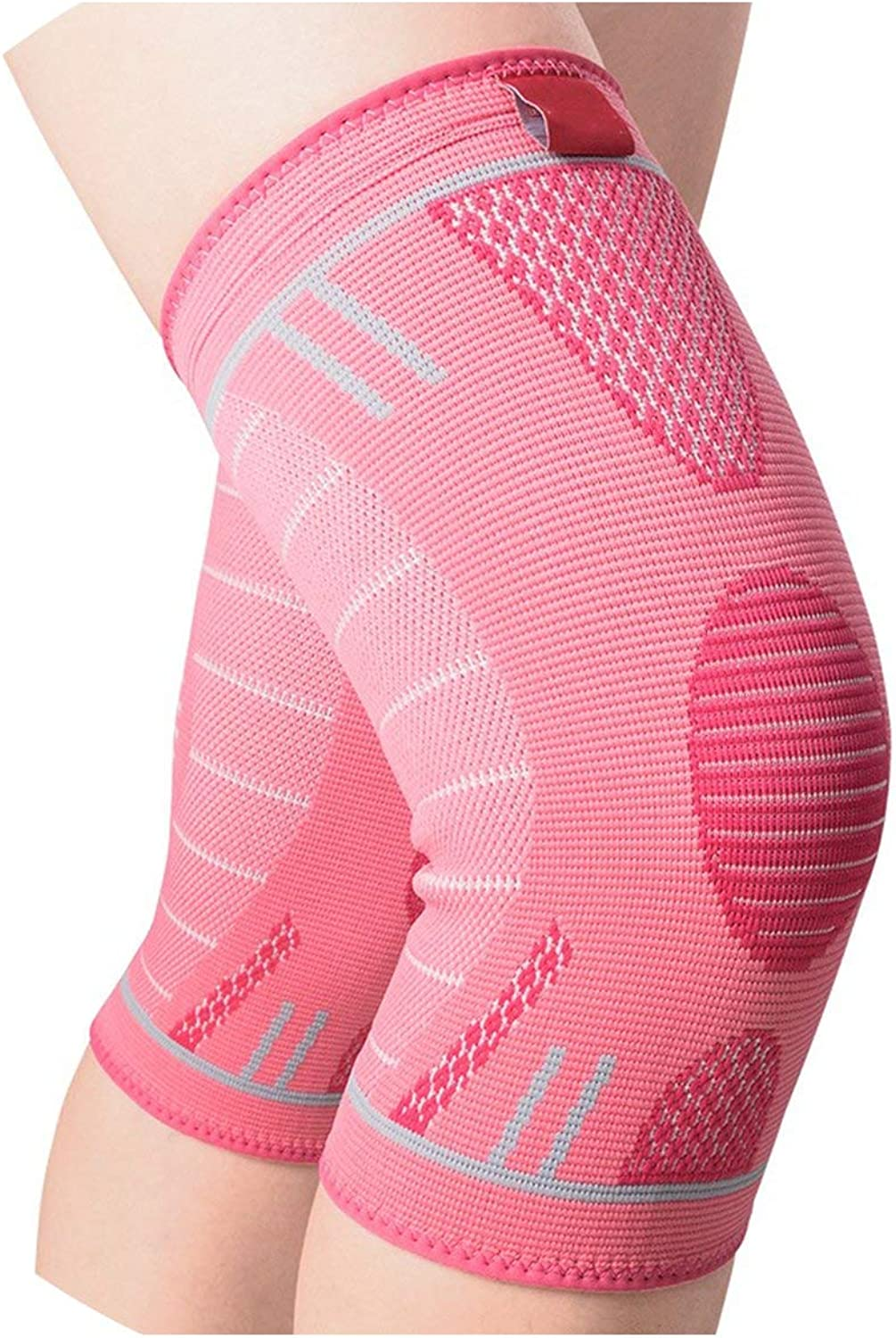1 PC Knee Brace Support Elastic Nylon Sports Compression Knee Pad Sleeve for Running Arthritis Joint Pain Relief Kneepad,Pink 1PC,M