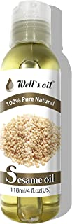 Well's 100% Pure Sesame Oil 4oz / Reduces Graying Hair/Relievers Arthritis/Lowers Blood Pressure and Stress
