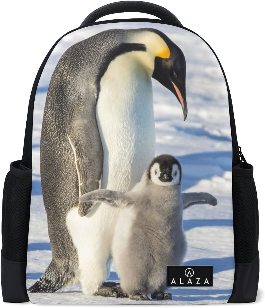 Use4 Cute Penguin Sale price Polyester Fixed price for sale Bag School Travel Backpack