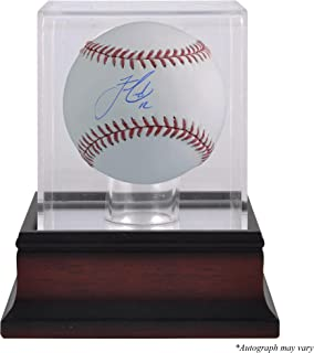 Francisco Lindor Cleveland Indians Autographed Baseball and Mahogany Baseball Display Case - Fanatics Authentic Certified
