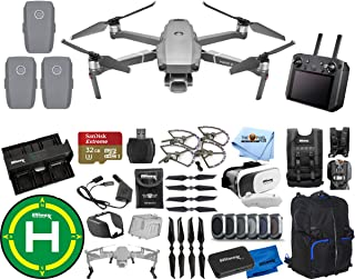 DJI Mavic 2 Pro with Smart Remote Controller 3 Battery (Total) Extreme PRO Accessory Bundle with Backpack, Drone Vest, Landing Pad, Filter Kit, Charging Hub + Much More