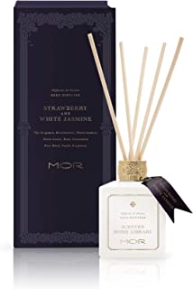 MOR Boutique Scented Home Library Strawberry and White Jasmine Reed Diffuser, 180 ml
