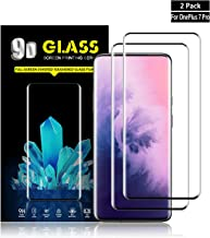 Oneplus 7 Pro Screen Protector by YEYEBF, [2 Pack] Full Coverage Tempered Glass Screen Protector for Oneplus 7 Pro[Bubble-Free][3D Touch][Case-Friendly][Anti-Scratch]