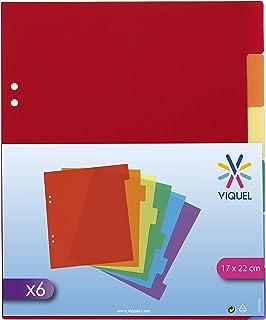 Intercalaires 6 positions en plastique format A5 - Multicolore