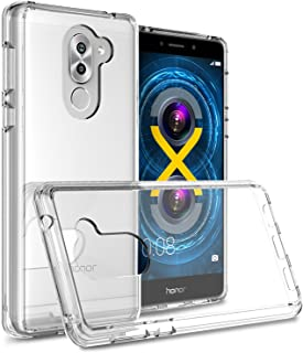 Honor 6X Case, Huawei Mate 9 Lite Case, CoverON [ClearGuard Series] Hard Clear Back Cover with Flexible TPU Bumpers Slim Fit Phone Cover Case for Huawei Honor 6X / Mate 9 Lite - Clear