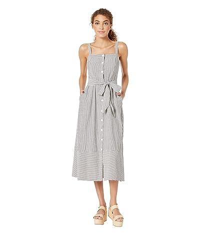 Michael Stars Pacifica Stripe Raina Button Front Dress (Black Multi) Women