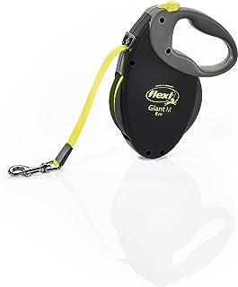 Flexi Giant Medium Retractable Dog Leash (Tape), 26 ft, Medium, Black/Neon