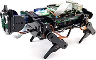Freenove Robot Dog Kit for Raspberry Pi 4 B 3 B+ B A+, Walking, Self Balancing, Ball Tracing, Face Recognition, Ultrasonic...