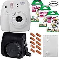 Fujifilm Instax Mini 9 (Smokey White), 3X Instax Film (60 Sheets), Groovy Case, Accordion Album...