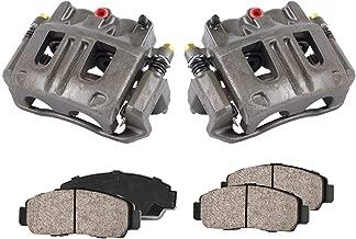 CCK11479 [2] FRONT Premium Loaded OE Caliper Assembly Set + Quiet Low Dust Ceramic Brake Pads