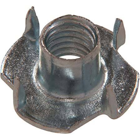 """Qty 20 3//16/"""" UNC Zinc Steel 4 Prong T Nut Tee Blind Timber Wood Insert Nuts"""