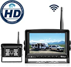 eRapta Wireless Backup Camera and Monitor Kit Reverse Rearview Cam Digital Signal 2018 Update for Truck/Trailer/Bus/RV/Pickups/Camper/Motorhome/Van When Reversing Parking Backing Up E1
