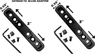 GOTICAL Keymod to M-lok Adapter Converter Rail Section Keymod to Mlok Converter Pack of 2