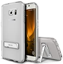 Galaxy S7 Edge Case, OBLIQ [NaKED SHIELD][Clear][Metal Kickstand] Slim Fit Crystal Clear Scratch Resist Heavy Duty Protection Dual Layer Case for Samsung Galaxy S7 Edge