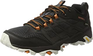 Merrell Moab FST GTX Men's Walking Shoes, Black/Orange, AU12