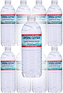 Crystal Geyser Water, Purified Water, 16.9 Fl Oz (Pack of 8, Total of 135.2 Fl Oz)