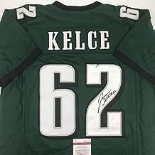 Autographed/Signed Jason Kelce Philadelphia Green Football Jersey JSA COA