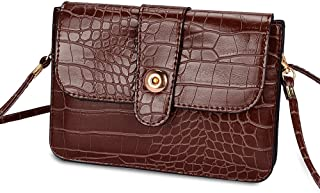 Faux Leather Cell Phone Bag Pouch Case for HTC One M9 / Desire EYE / 626 / 612 / 526 / 510 / Motorola Moto X 3G / BLU Studio X / G / Energy (Brown croco)