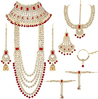 Traditional Ethnic Indian Kundan Dulhan Bridal Jewellery Set for Women (BLP020R)