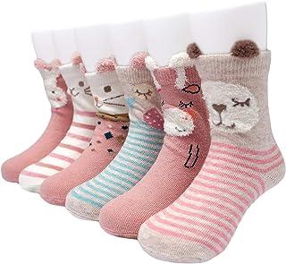 Calcetines Antideslizantes para Bebé Niñas Paquete de 6 Multicolor 1-3 Años