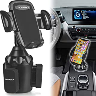 [Upgraded] Car Cup Holder Phone Mount Adjustable Automobile Cup Holder Smart Phone Cradle Car Mount for iPhone 11 Pro/XR/XS Max/X/8/7 Plus/6s/Samsung S10+/Note 9/S8 Plus/S7 Edge(Black)