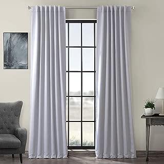 HPD HALF PRICE DRAPES BOCH-144105-108 Blackout Room Darkening Curtain, 50 X 108, Fog Grey