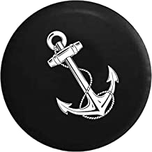 Ships Anchor with Rope Spare Tire Cover fits SUV Camper RV Accessories White Ink 33 in