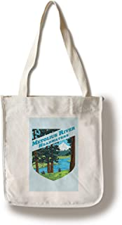 Metolius River Headwaters, Oregon - Contour 100399 (100% Cotton Tote Bag - Reusable)