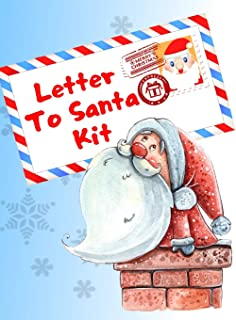 Letter To Santa Kit: Write A Letter To Santa Claus, Coloring And Sticker Pages