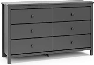 Storkcaft Alpine 6 Drawer Dresser (Grey) – Stylish Storage Dresser Chest for Bedroom, 6 Spacious Drawers with Handles, Coordinates with Any Kids Bedroom or Baby Nursery
