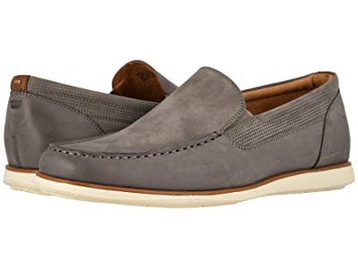 Florsheim Atlantic Moc Toe Venetian Slip-On (Gray Nubuck w/ White Sole) Men