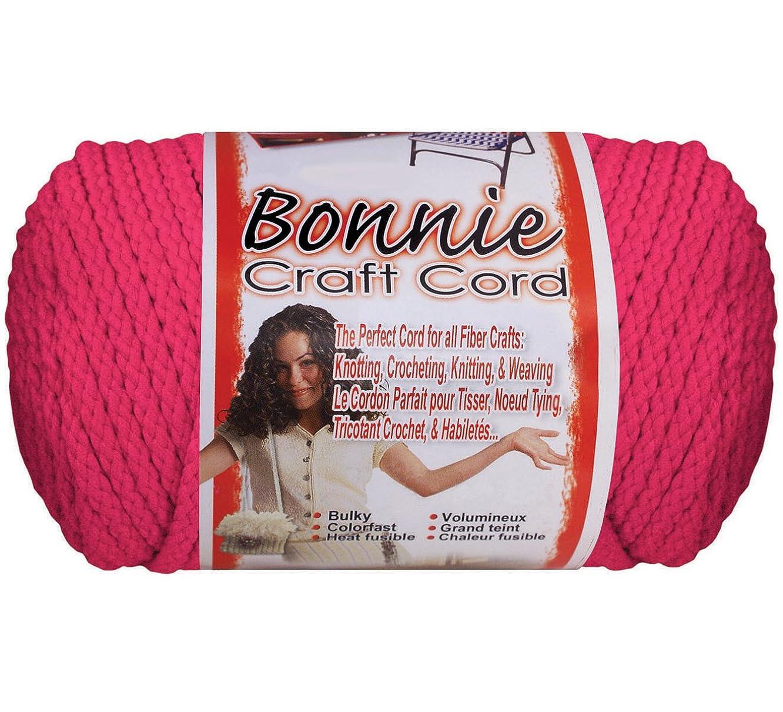 Pepperell Bonnie Macrame Craft Cord 6mmX100yd-Azalea Pink