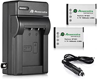Powerextra 2 Pack Replacement Li-ion Battery with Charger for Sony NP-BX1/M8 and Sony Cyber-Shot DSC-RX100, DSC-RX100 II, ...