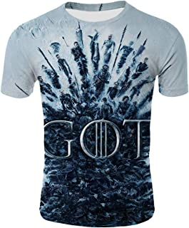Mother of Dragons Game of Thrones 3D Printing Unisex T-Shirt for Adult and Youth.