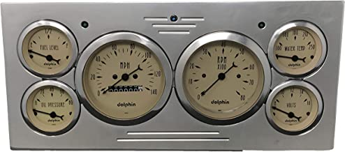 Dolphin Gauges Compatible with 1973 1974 1975 1976 1977 1978 1979 Ford Truck 6 Gauge Dash Cluster Panel Set Mechanical Tan