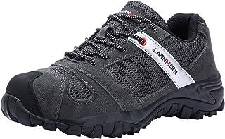 Puntas de Acero Antideslizantes SRC Anti-Piercing Zapatos de Trabajo LARNMERN Zapatos de Seguridad para Hombre 45 EU Negro