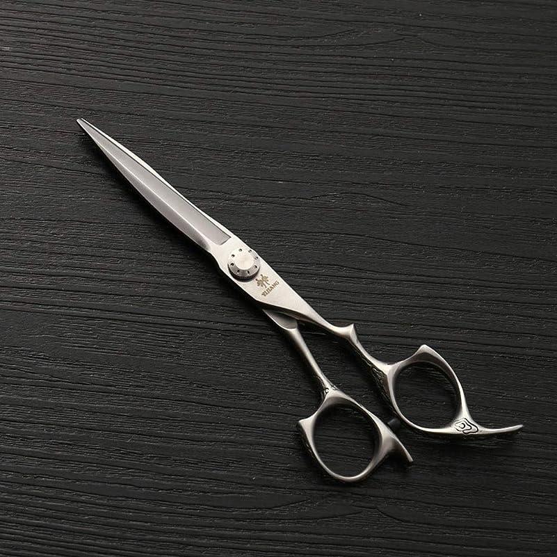 覆すオークション爆発物Goodsok-jp 6インチのステンレス鋼の理髪はさみ、美容院の特別なヘアカットの平らなはさみセット (色 : Silver)