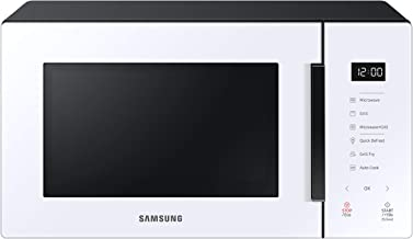 SAMSUNG - MG23T5018CW Microondas con Grill 23L 800W, Cerámica Enamel, Grill Fry y Stand by Eco, Color Blanco