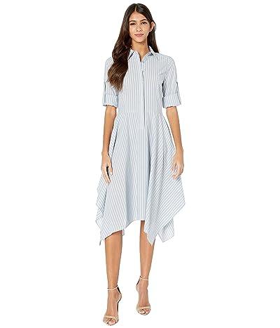 BCBGMAXAZRIA Stripe Midi Dress (Blue Combo) Women