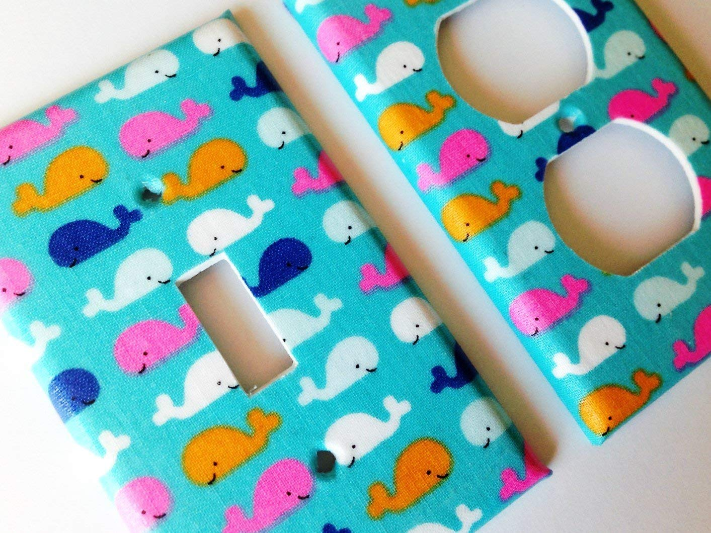 Blue And Pink Whales All items in the store Light Switch Cover Sizes Offered SALENEW very popular! Various