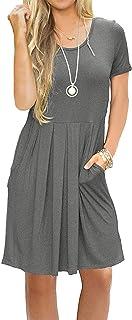 آستین کوتاه زنان پیراهن آستین کوتاه پیراهن پیراهن پیراهن آستین کوتاه با جیب طول زانو