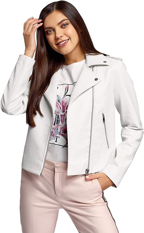 oodji Ultra Women's Faux discount Jacket Leather Biker Japan Maker New
